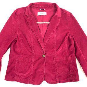 Caslon Red Crop Corduroy Blazer XL